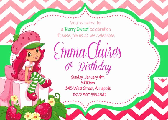 Strawberry Shortcake Invitation Template Free Best Of 1000 Images About Strawberry Shortcake Invitations On