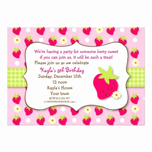Strawberry Shortcake Invitation Template Free Best Of Strawberry Shortcake Birthday Invitation Template Free