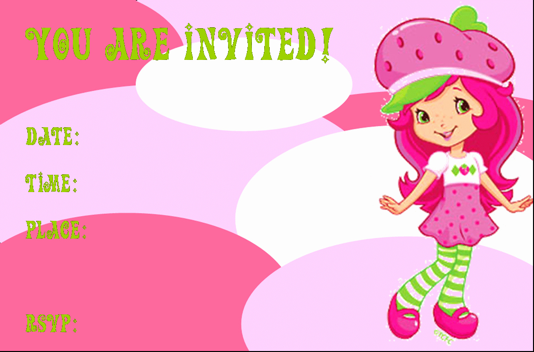 Strawberry Shortcake Invitation Template Free Best Of Strawberry Shortcake Birthday Invitations Free