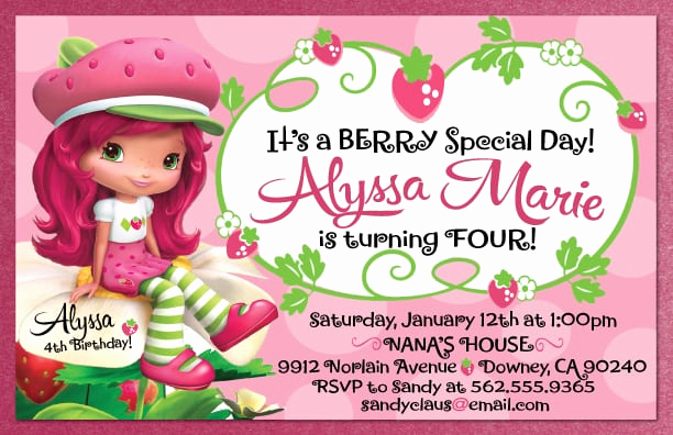 Strawberry Shortcake Invitation Template Free Fresh Strawberry Shortcake Invites