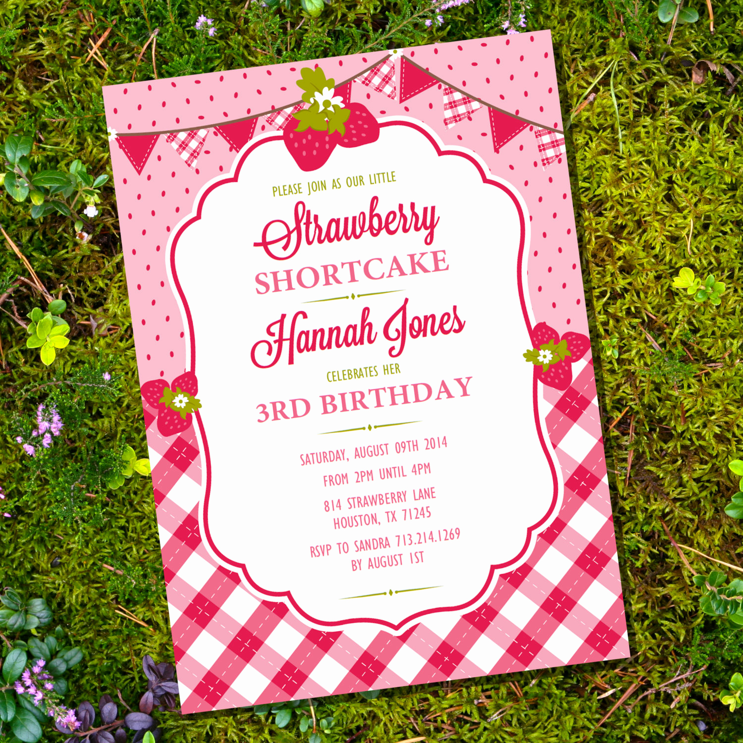 Strawberry Shortcake Invitation Template Free Fresh Strawberry Shortcake Party Invitation for A Girl Instant