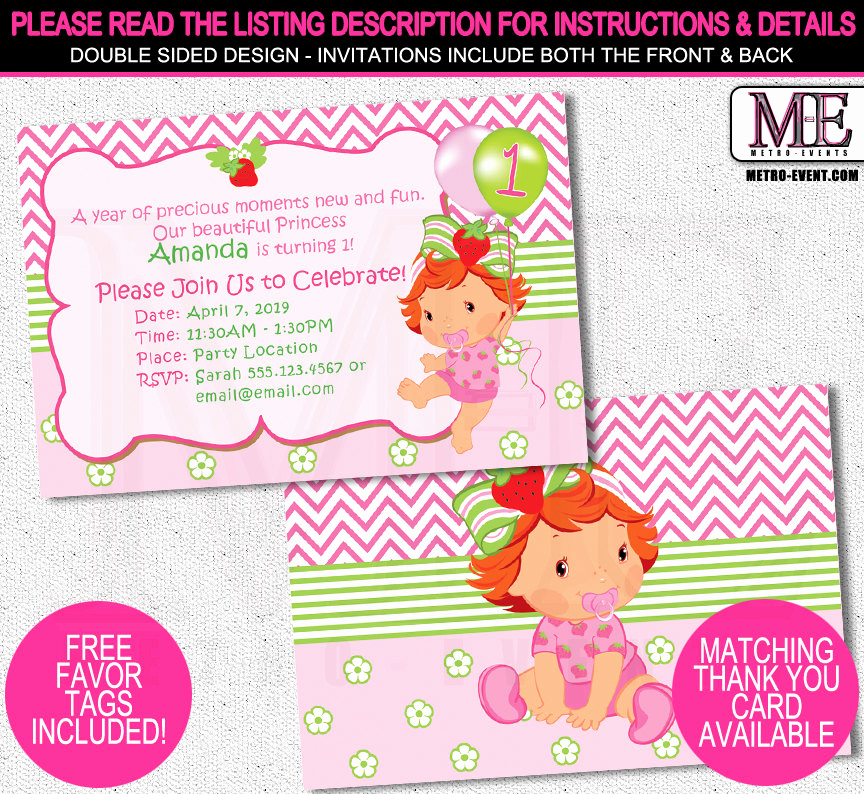 Strawberry Shortcake Invitation Template Free Lovely Strawberry Shortcakes Baby Shower Invitations