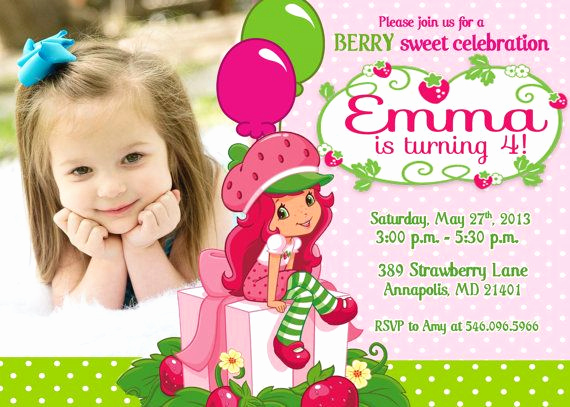 Strawberry Shortcake Invitation Template Free Luxury 94 Best Images About Strawberry Shortcake Invitations On