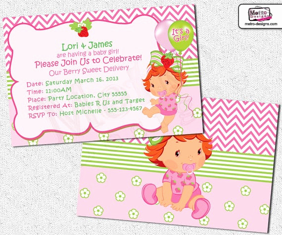 Strawberry Shortcake Invitation Template Free Luxury Free Printable Strawberry Shortcake Invitation