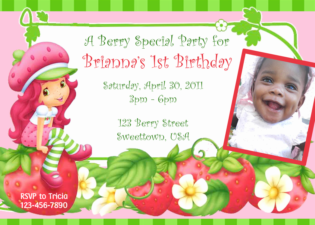 "Strawberry Shortcake Invitation Template Free Luxury Parties""r""personal Strawberry Shortcake Personalized"