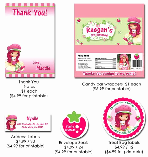 Strawberry Shortcake Invitation Template Free Unique Strawberry Shortcake Printable Invitation Free