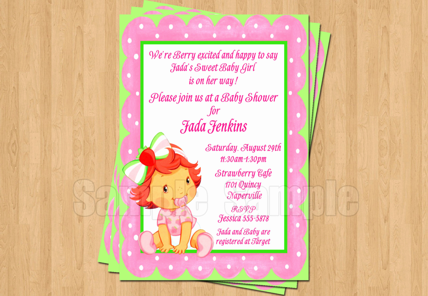 Strawberry Shortcake Invitation Templates Awesome Strawberry Shortcake Baby Shower Invitations Jpeg Cute Unique