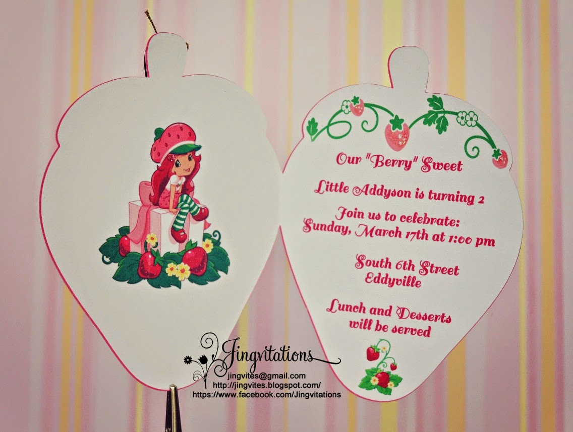 Strawberry Shortcake Invitation Templates Best Of Jingvitations Strawberry Shortcake Birthday Party Invitations