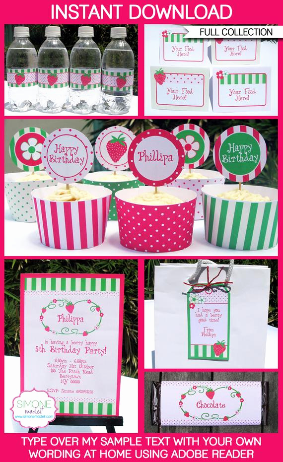 Strawberry Shortcake Invitation Templates Best Of Strawberry Shortcake Party Invitations & Decorations Full