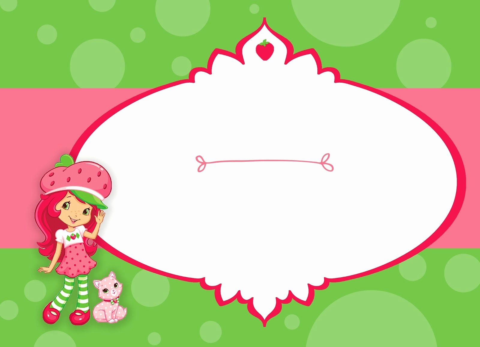 Strawberry Shortcake Invitation Templates Elegant Free Strawberry Shortcake Birthday Party Printable