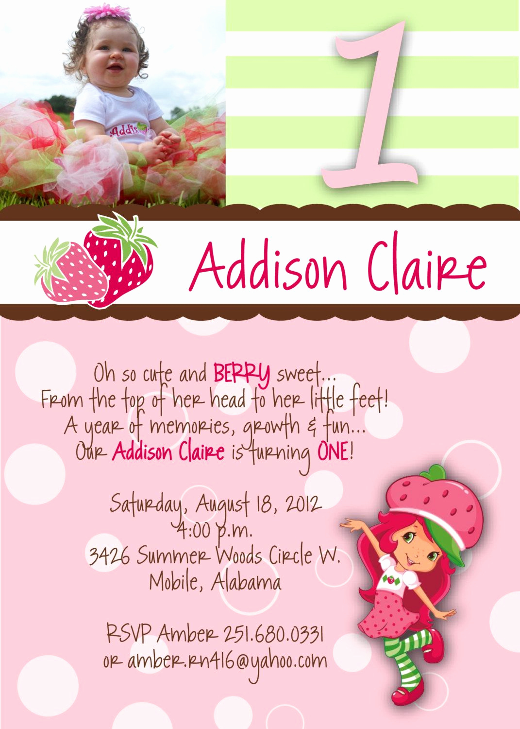 Strawberry Shortcake Invitation Templates Fresh Strawberry Shortcake Invitation by Sendingitinstyle On