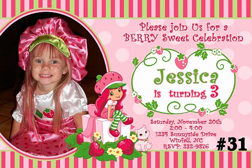 Strawberry Shortcake Invitation Templates Inspirational Strawberry Birthday Invitations Ideas – Free Printable
