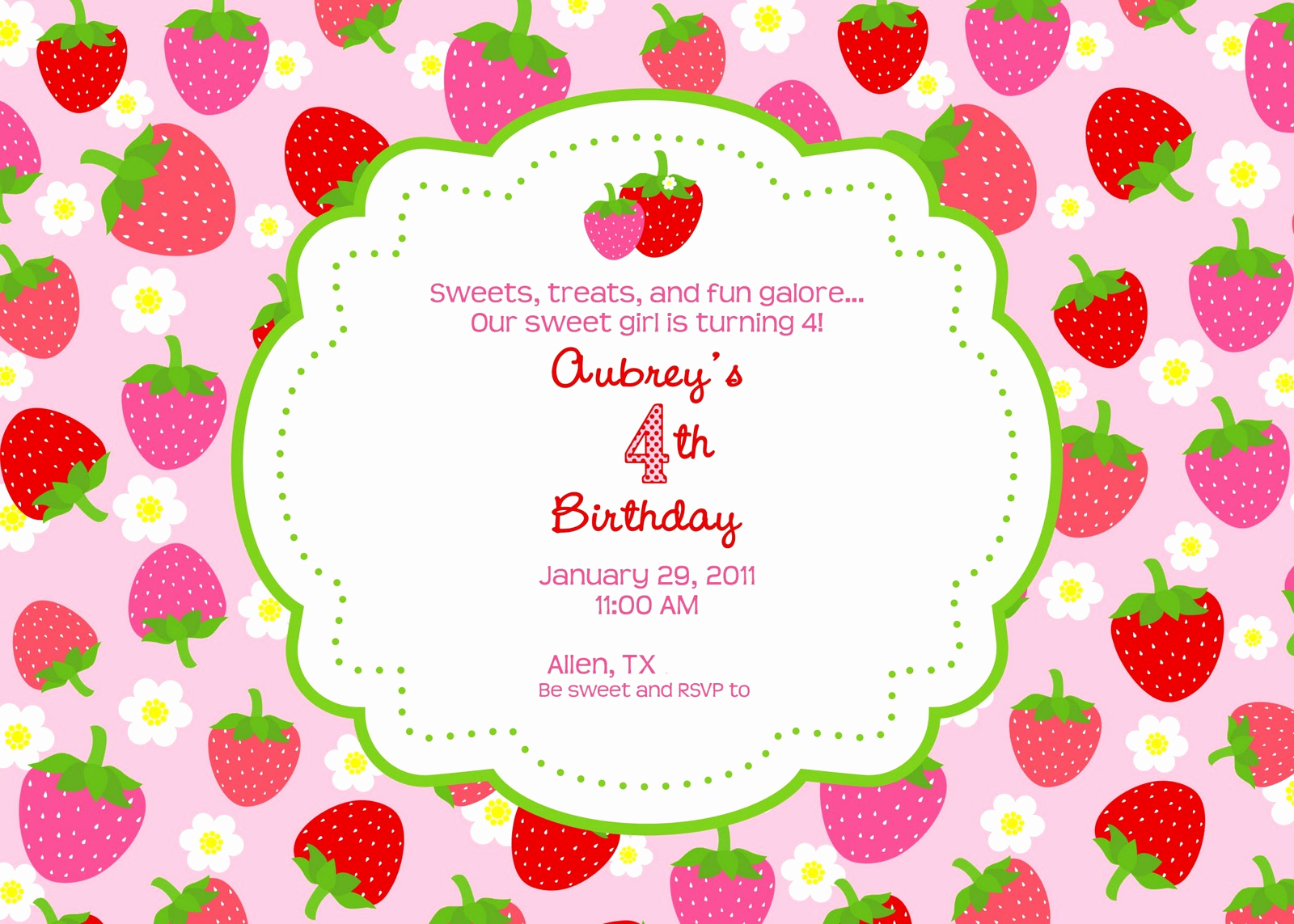 Strawberry Shortcake Invitation Templates Luxury Strawberry Shortcake Party Giggles Galore