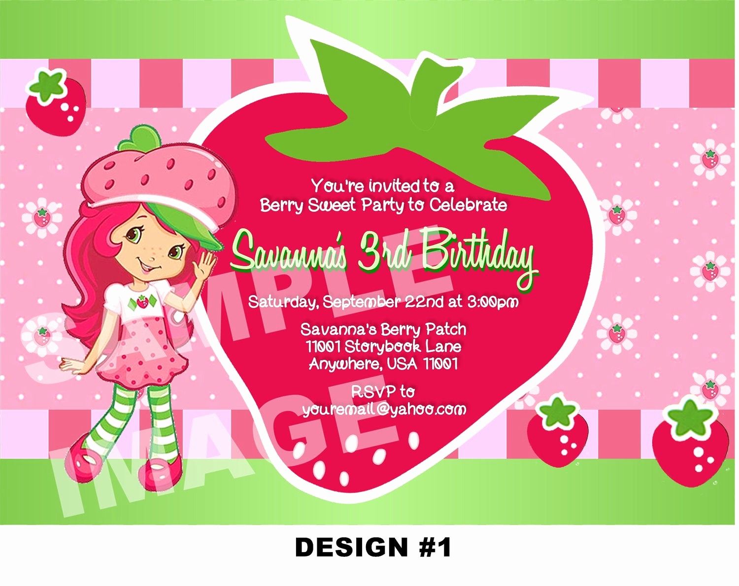 Strawberry Shortcake Invitation Templates New Strawberry Shortcake Invitation Strawberry Shortcake