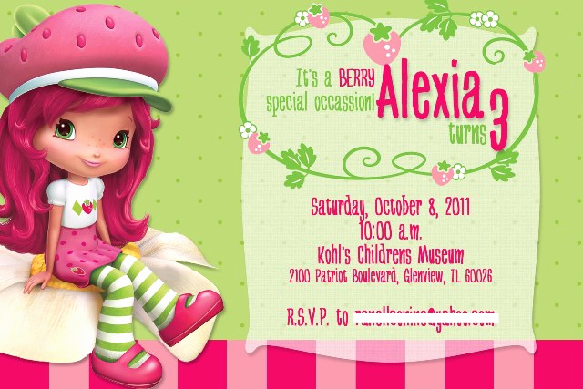 Strawberry Shortcake Invitation Templates Unique Strawberry Shortcake Invite