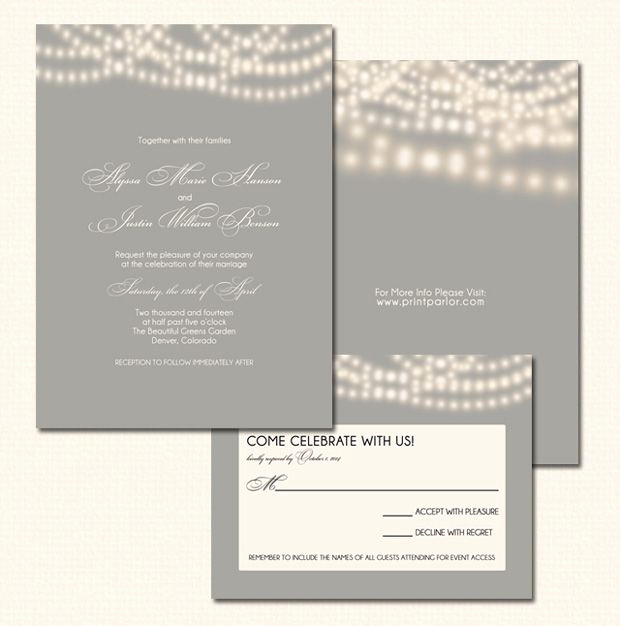 String Lights Wedding Invitation Best Of String Lights Wedding Invitation