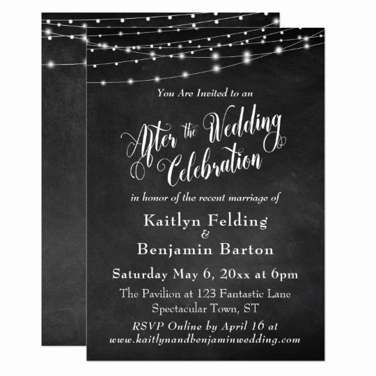 String Lights Wedding Invitation Fresh Chalkboard String Lights after Wedding Celebration