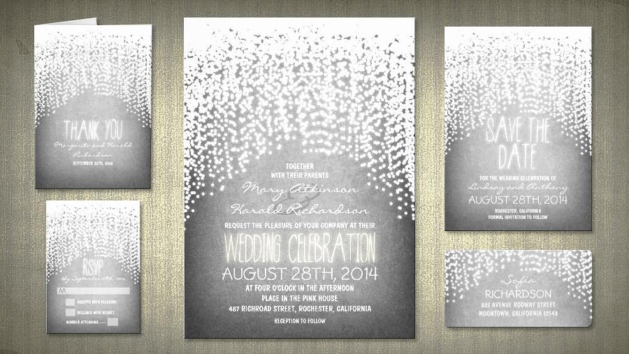 String Lights Wedding Invitation Fresh Read More – Shimmer String Lights Rustic Wedding