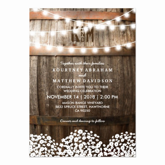 String Lights Wedding Invitation Inspirational Rustic Country Baby S Breath String Lights Wedding