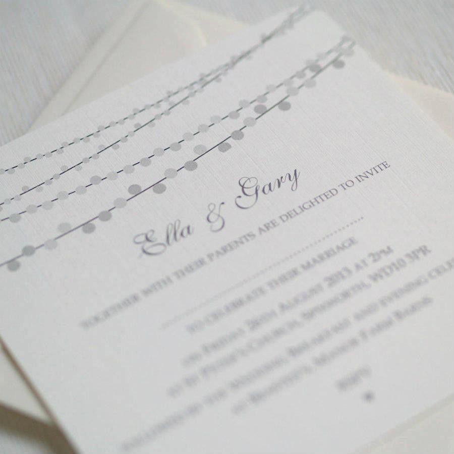 String Lights Wedding Invitation Luxury String Lights Design Wedding Invitations by Beautiful Day