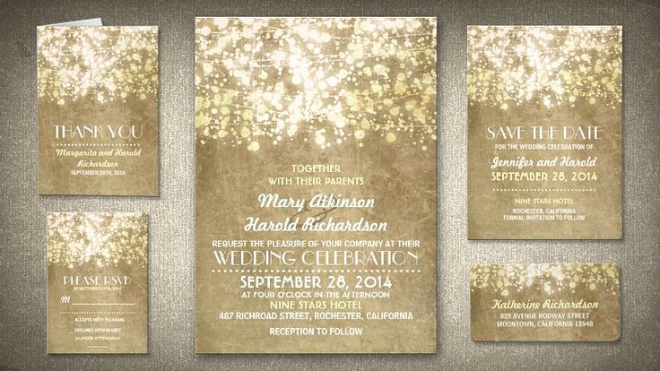 String Lights Wedding Invitation New Invitations