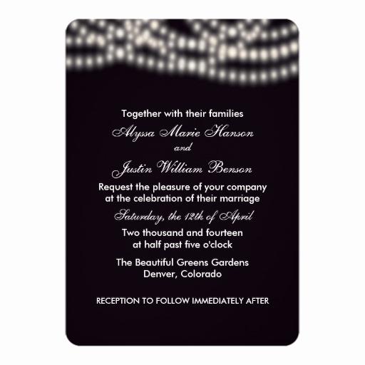 String Lights Wedding Invitation Unique String Lights Wedding Invitation
