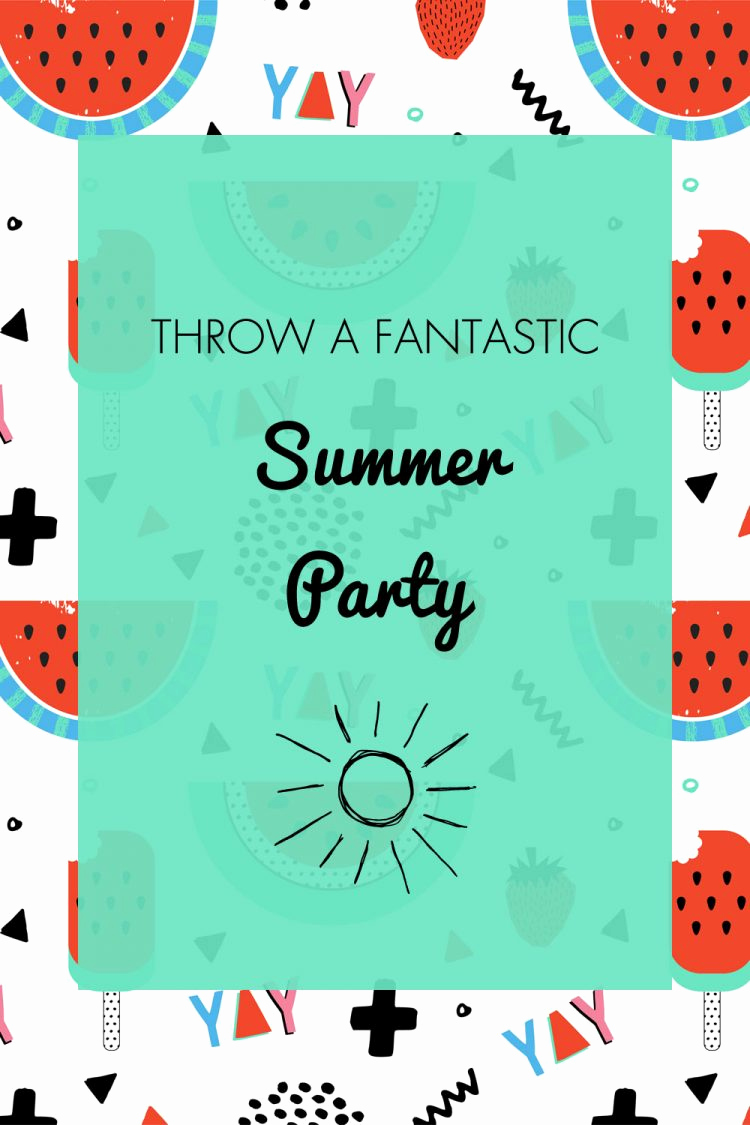 Summer Party Invitation Wording Fresh Summer Party Ideas Invitation & Free Printables Oh My