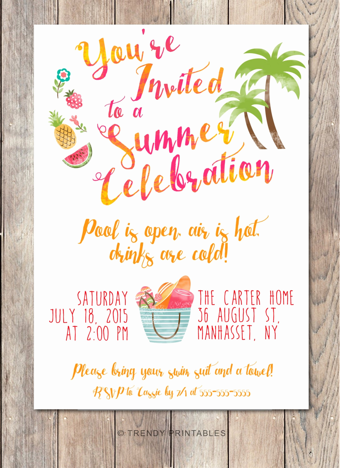 Summer Party Invitation Wording New Pool Party Invitation Summer Party Invitation Back Yard