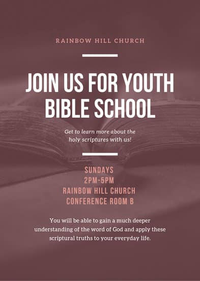 Sunday School Invitation Flyer Beautiful Customize 50 Church Flyer Templates Online Canva