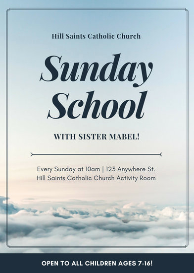 Sunday School Invitation Flyer Beautiful Customize 67 Church Flyer Templates Online Canva