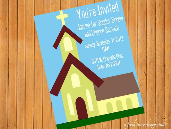 Sunday School Invitation Flyer Best Of Items Similar to Church Sunday School Invitation