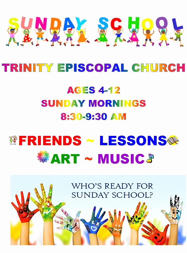Sunday School Invitation Flyer Elegant Home Trinity Episcopal Church