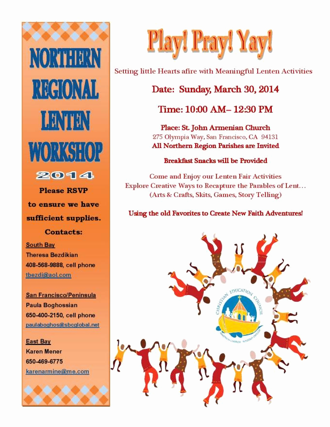 Sunday School Invitation Flyer Luxury northern Regional Sunday School Workshop