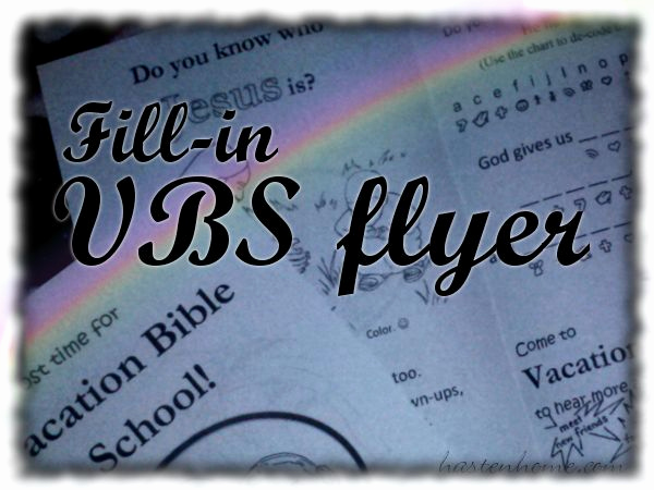 Sunday School Invitation Flyer Luxury Printable Fill In Vbs Flyer
