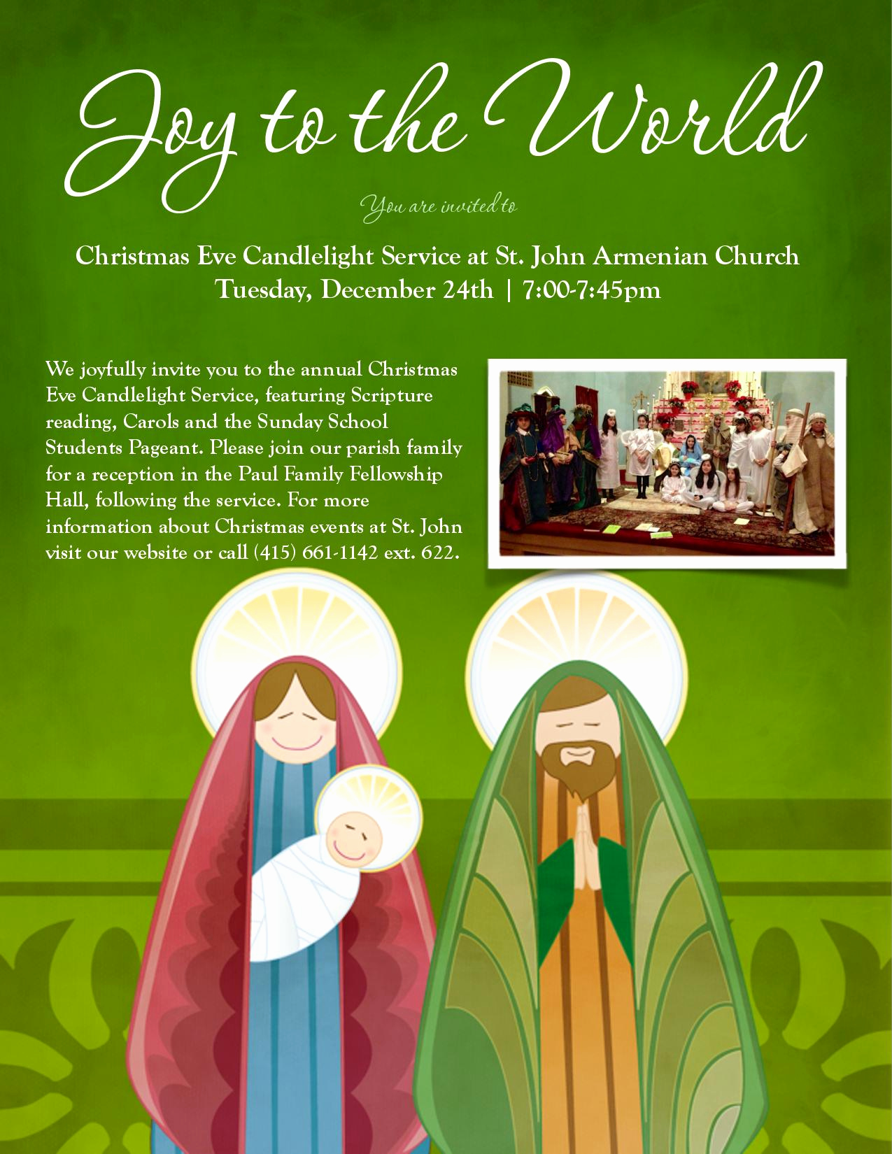 Sunday School Invitation Flyer New Christmas Eve Candlelight Service