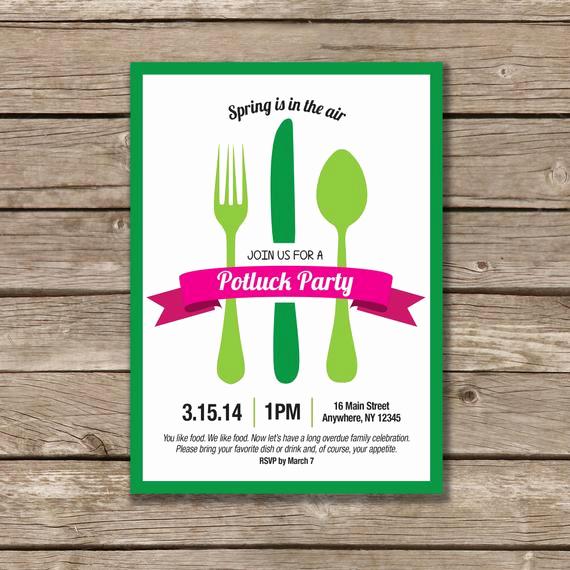 Sunday School Invitation Ideas Best Of Potluck Party Potluck Invitation Printable Made to order