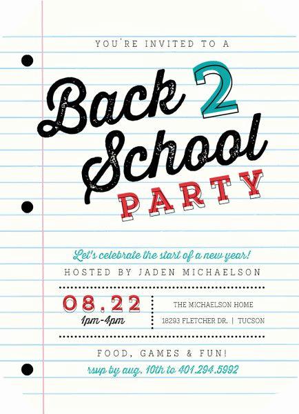 Sunday School Invitation Ideas Best Of School Paper Party Back to School Invitation