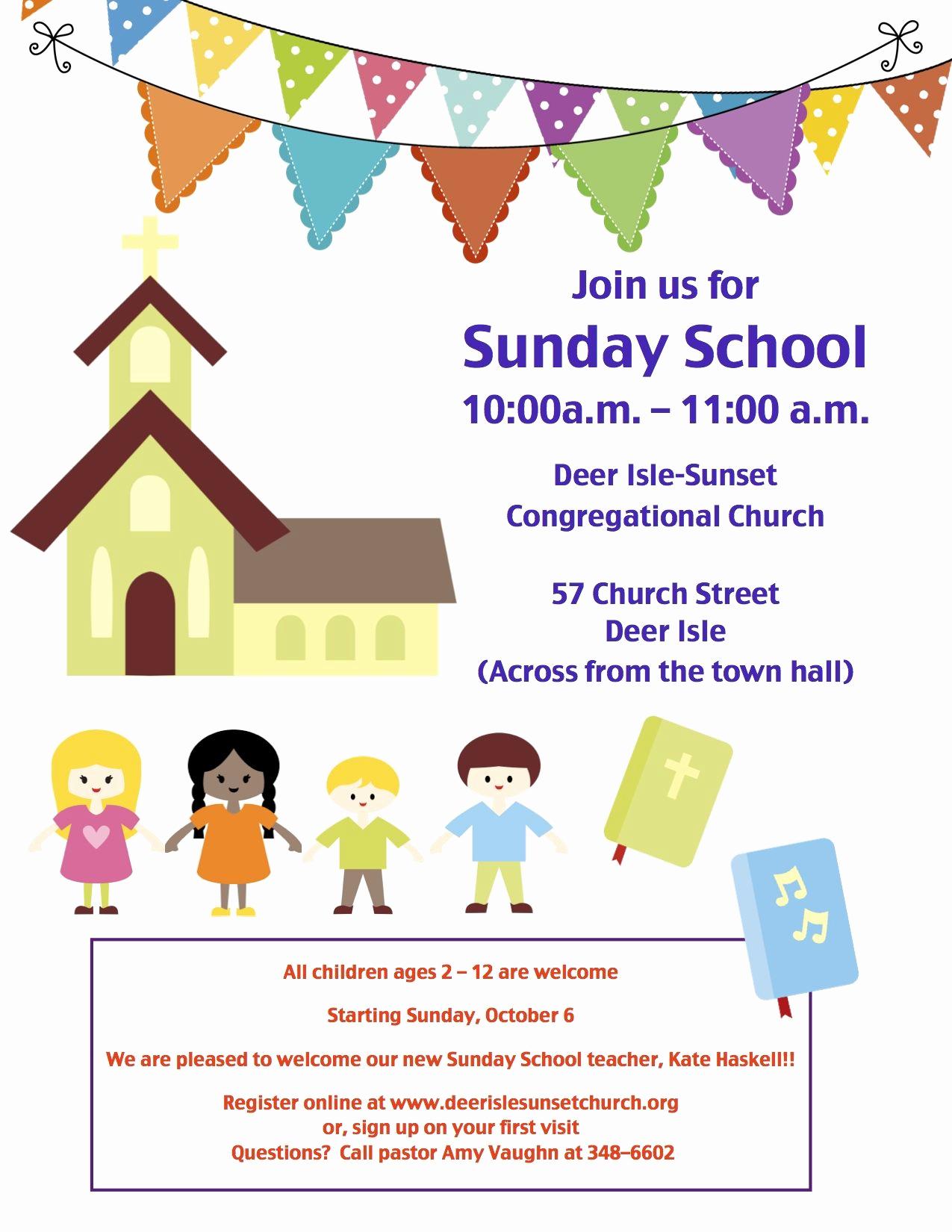 Sunday School Invitation Ideas Lovely Sunday School Invitation Flyer Google Search