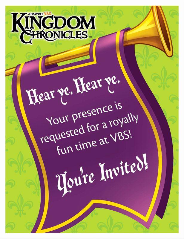 Sunday School Invitation Ideas New Kingdom Chronicles Vbs Invitation Postcards
