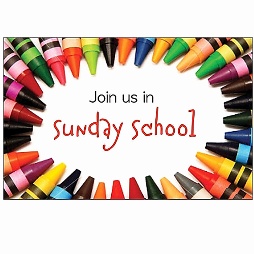 Sunday School Invitation Ideas Unique Join Us In Sunday School Crayons Postcards Packaged 25