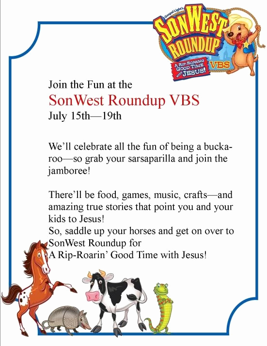 Sunday School Invitation Letter Awesome 1000 Images About Vbs son West Round Up On Pinterest