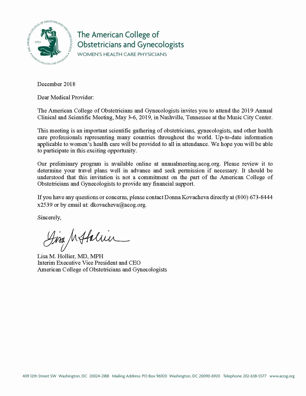 Sunday School Invitation Letter Beautiful Invitation Letter Acog Annual Meeting
