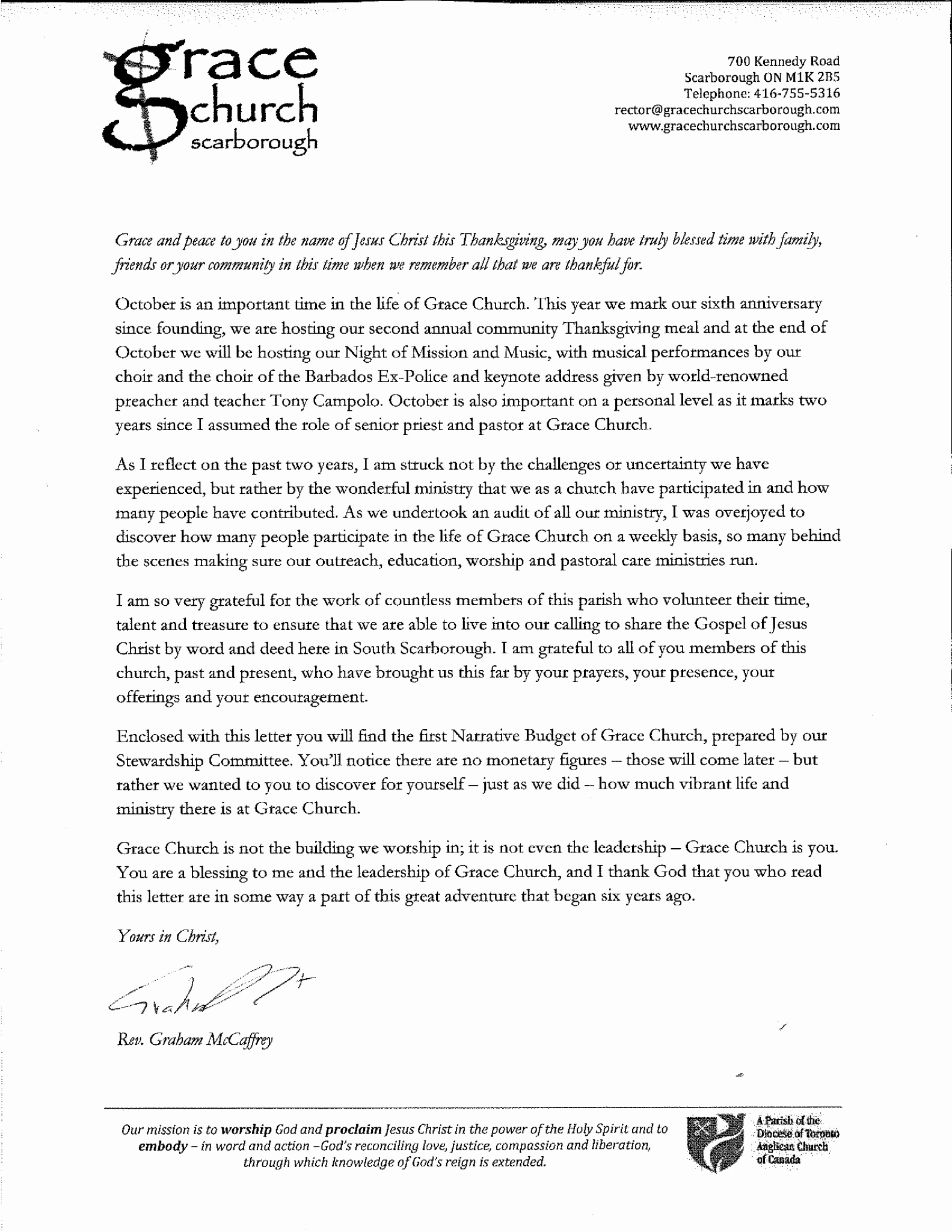 Sunday School Invitation Letter Best Of Thanksgiving Letter 2017 Grace Church Scarborough