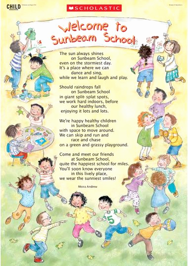 Sunday School Invitation Letter Best Of Wel E Back to School Poem