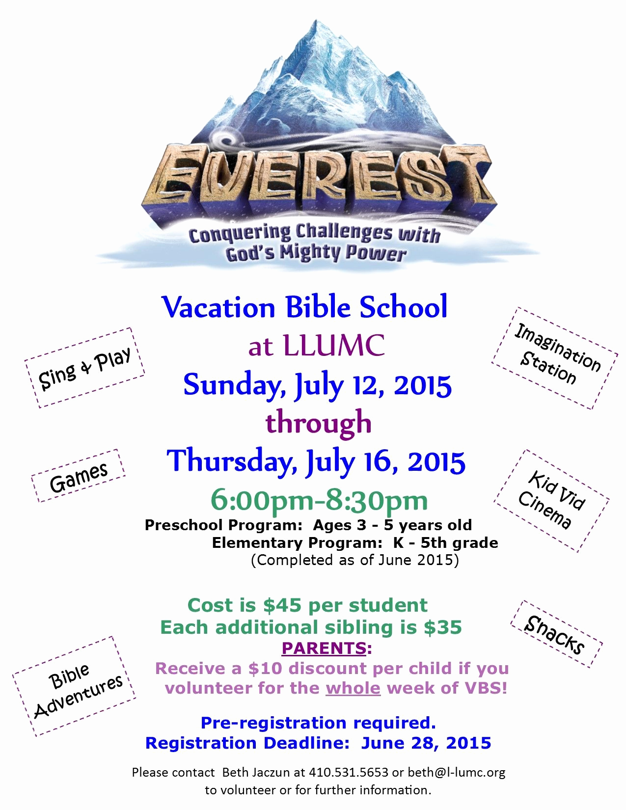 Sunday School Invitation Letter Fresh Everest Vbs Flyer Google Search