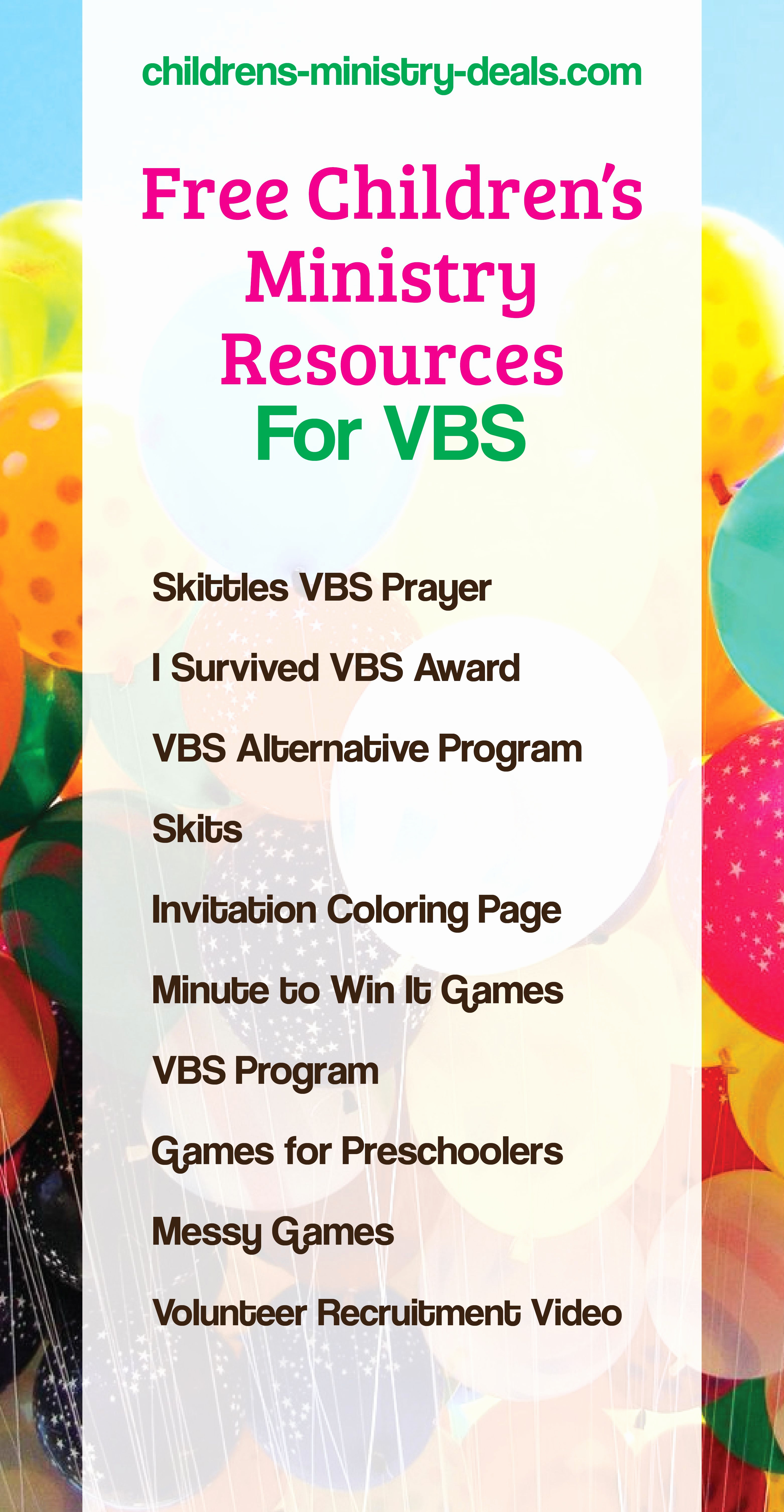 Sunday School Invitation Letter Lovely 10 Free Vbs Resources for 2017