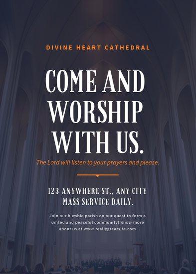 Sunday School Invitation Letter Unique Customize 52 Church Flyer Templates Online Canva