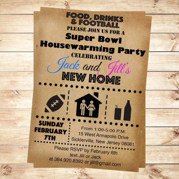 Super Bowl Invitation Ideas Awesome 1000 Ideas About Housewarming Party Invitations On