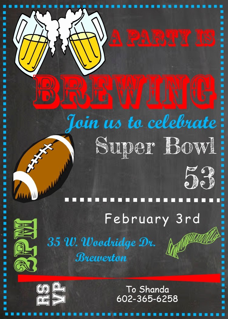 Super Bowl Invitation Ideas Awesome Super Bowl Party Invitations 2019 Football