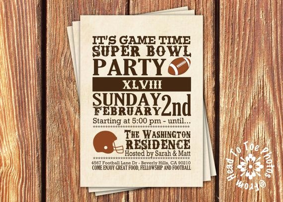 Super Bowl Invitation Ideas Beautiful Super Bowl Party Invitations Superbowl Party